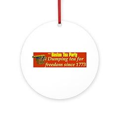 Dumping Tea 4 Freedom Ornament (Round)