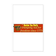 Dumping Tea 4 Freedom Posters