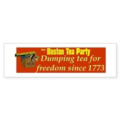 Dumping Tea 4 Freedom Bumper Bumper Sticker