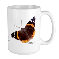 Red Admiral Butterfly Large Mug