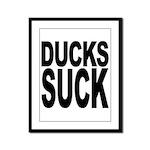 Ducks Suck Framed Panel Print
