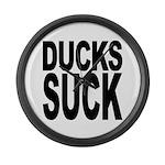 Ducks Suck Large Wall Clock