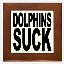Dolphins Suck Framed Tile