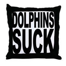 Dolphins Suck Throw Pillow