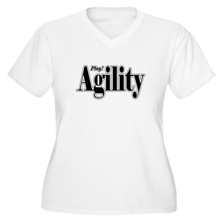 Play! Agility Women's Plus Size V-Neck T-Shirt