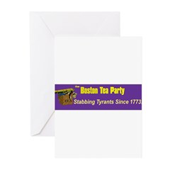 Stabbing Tyrants Since 1773 Greeting Cards (Pk of