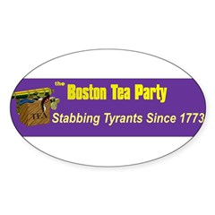 Stabbing Tyrants Since 1773 Oval Decal