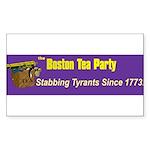 Stabbing Tyrants Since 1773 Rectangle Sticker