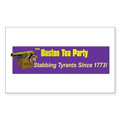 Stabbing Tyrants Since 1773 Rectangle Decal