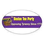Opposing Tyranny Since 1773 Oval Sticker
