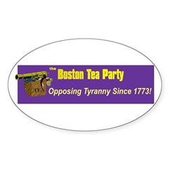 Opposing Tyranny Since 1773 Oval Decal