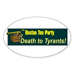 Death to Tyrants Oval Decal