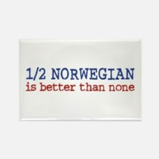 Half Norwegian Is Better Than None Rectangle Magne