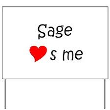 Cool Sage Yard Sign