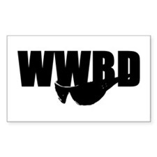 WWBD? Rectangle Decal