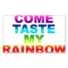 Come Taste My Rainbow Rectangle Decal