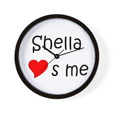 Cute Me to you heart to heart Wall Clock