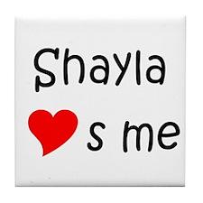 Cute Shayla Tile Coaster