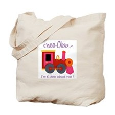 Train 6th Birthday Tote Bag