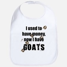 money before, goats now Bib