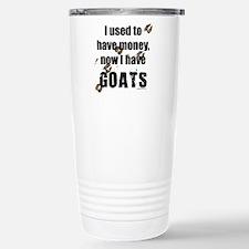 money before, goats now Travel Mug