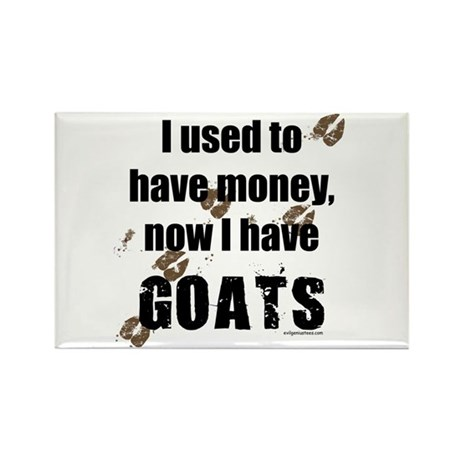money before, goats now Rectangle Magnet (10 pack)