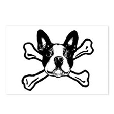 Unique Boston terrier Postcards (Package of 8)
