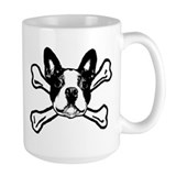 Boston terrier skull and cross bones Coffee Mugs
