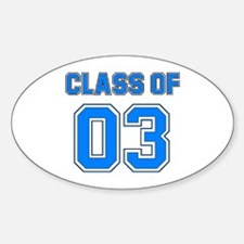 Class of 03 Oval Decal