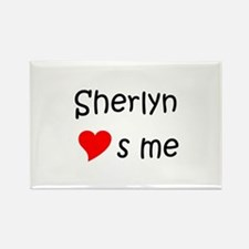 Cute Sherlyn Rectangle Magnet