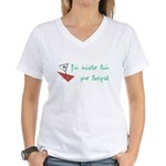 Smarter Than Your Therapist Women's V-Neck T-Shirt
