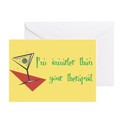 Smarter Than Your Therapist Greeting Cards (Pk of