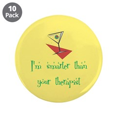 """Smarter Than Your Therapist 3.5"""" Button (10 p"""