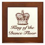 King of the Dance Floor Framed Tile