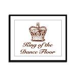 King of the Dance Floor Framed Panel Print