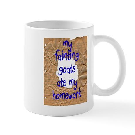 Fainting Goats Ate Homework Mug