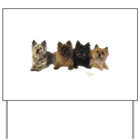 Cairn Terrier Friends Yard Sign