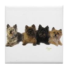 Cairn Terrier Friends Tile Coaster