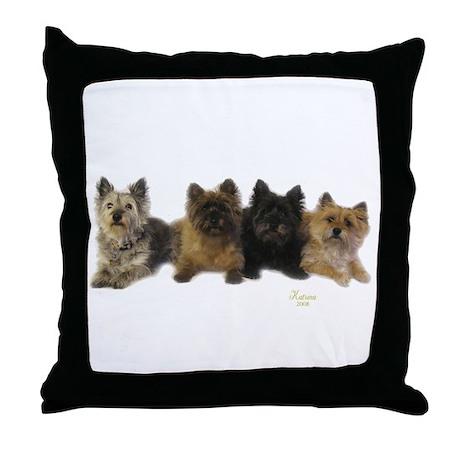 Cairn Terrier Friends Throw Pillow