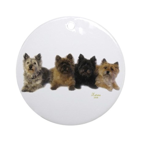 Cairn Terriers Ornament (Round)