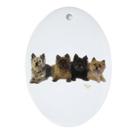 Cairn Terrier Friends Ornament (Oval)