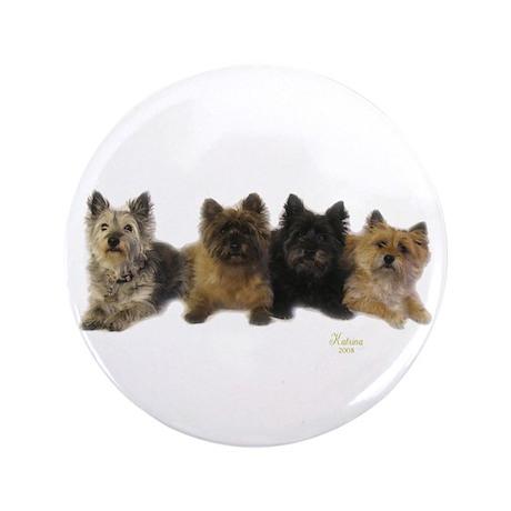 """Cairn Terrier Friends 3.5"""" Button"""
