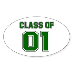 Class of 01 Oval Sticker