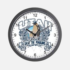 Save the Penguin Utah Wall Clock