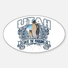 Save the Penguin Utah Oval Decal