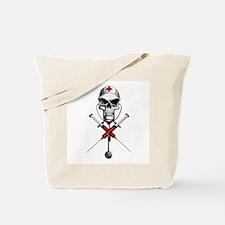Evil Nurse Skull Tote Bag