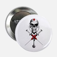 "Evil Nurse Skull 2.25"" Button"