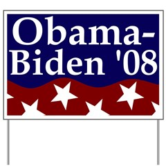 Patriotic Obama-Biden '08 Yard Sign