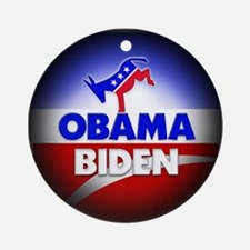 Obama Biden Democrats Ornament (Round)
