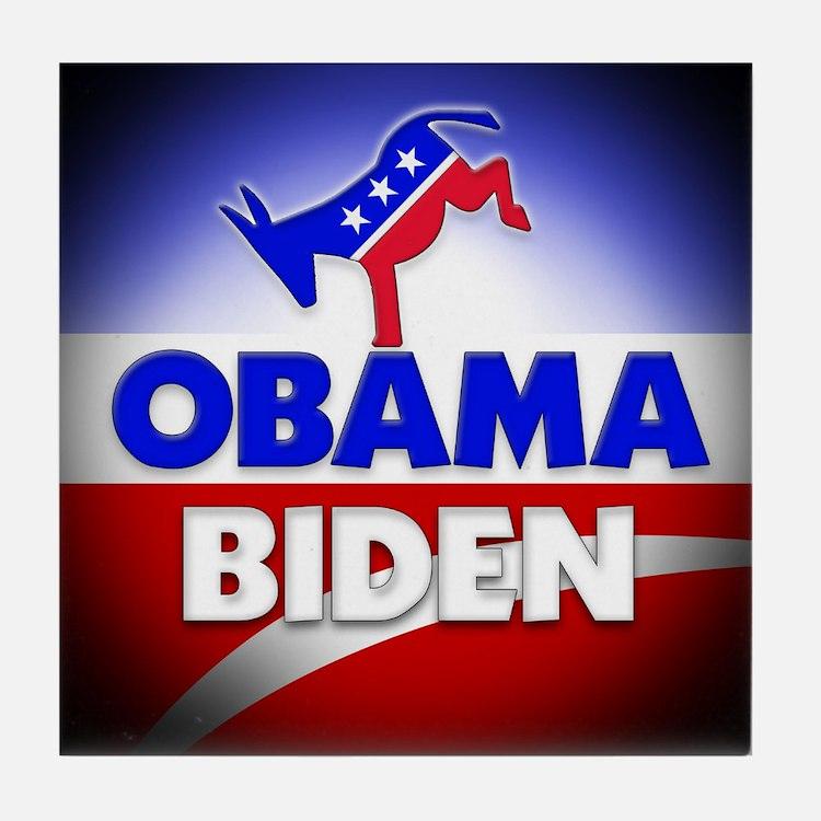 Obama Biden Democrats Tile Coaster